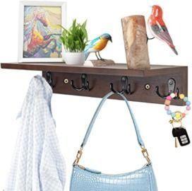 Floating Shelf with Hooks
