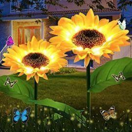 Waterproof Solar Sunflower Lights - 2 Pack