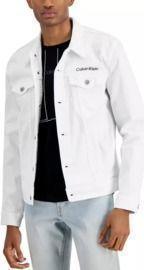 Calvin Klein Men's Essential Logo Embroidered Trucker Jacket