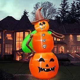 Turnmeon 8' Halloween Inflatable Pumpkin with LED Lights