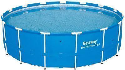 Bestway 12752E Steel Pro Above Ground 15ft x 48in Backyard Frame Pool Set