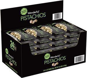 24-Pack 1.5-oz Wonderful Pistachios (Roasted & Salted)