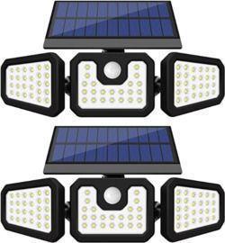 Solar Motion Sensor Lights -2 Pack