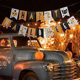 Batoude Happy Halloween Bunting Flag Banner