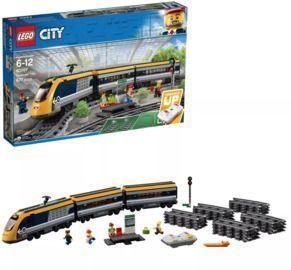 677-Piece Lego City Passenger Train Building Kit w/ 4 Minifigures & Track