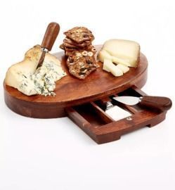 The Cellar Oval Cheeseboard and Knife Set