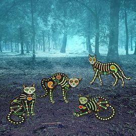 Halloween Outdoor Decor Skeleton Animals