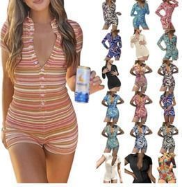 Women's Knitted Short Rompers