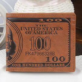 Us Dollar Bill Leather Wallet