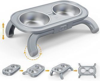 Adjustable Stainless Steel Double Pet Bowls