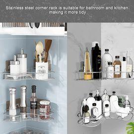 2 Pack Adhesive Shower Caddy Basket Shelf
