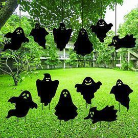 Halloween Decorations Ghost Silhouette Yard Stakes
