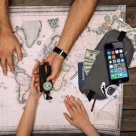 Money Belt with RFID Blocking & Hidden Passport Pouch