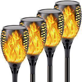 Qinol 33-LED Solar Torch Light 4-Pack