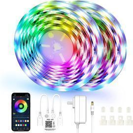 Bluetooth Color Changing LED Lights- 2 Pack