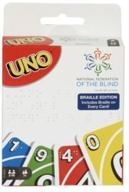 Uno Braille Family Card Game