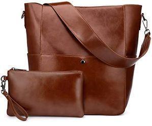 Realer Leather Hobo Purse w/ Wristlet