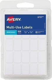 Avery .5 x .75 Removable Labels 525-Pack