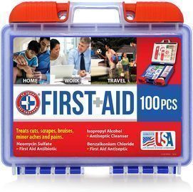 Be Smart Get Prepared 100-Piece First Aid Kit