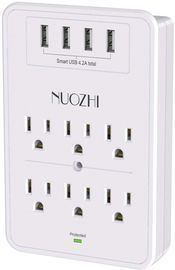 6-Outlet Extender with 4 USB