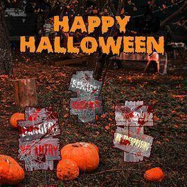 Halloween Decorations Beware Yard Signs