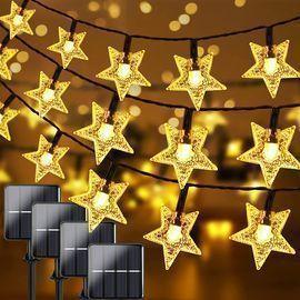 Extra-Long 400 LED Solar Outdoor Star String Lights