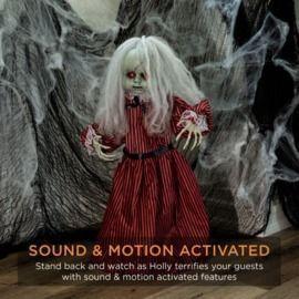 Haunted Holly Animatronic Roaming Doll