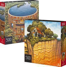 500-Piece Jigsaw Puzzles 2-Pack