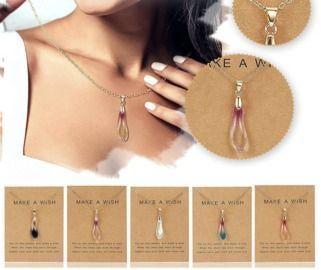 Drop Shaped Opal Pendant Necklace