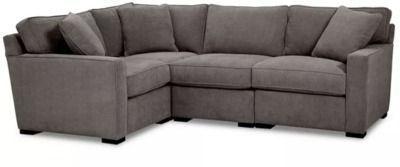 Radley Fabric 4pc Sectional Sofa