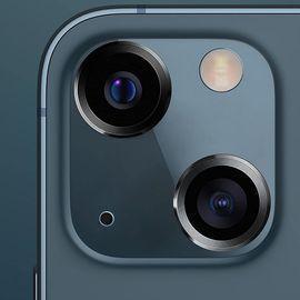 2Pcs Aluminum Alloy Tempered Glass Camera Circle Covers