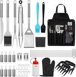Stainless Steel Grilling Tools Set