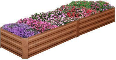 Outdoor Patio Galvanized Steel Raised Garden Bed Kit
