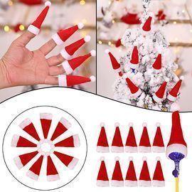 10 Pieces Mini Christmas Hat