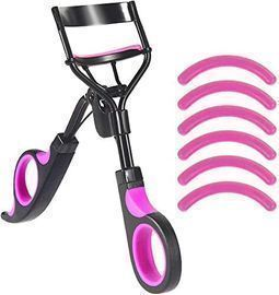 Eyelash Curler with 6 Silicone Refill Pads