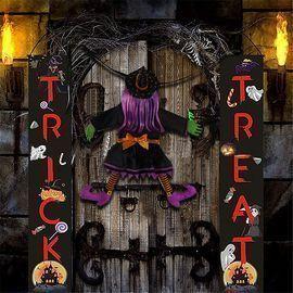 Halloween Crashing Witch Decoration