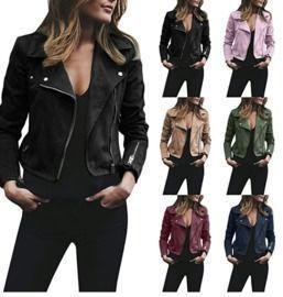 Bomber Retro Leather Zipper Jacket