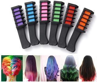 5 Color Hair Chalk Combs