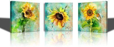 Yellow Sunflower Flower Wall Art