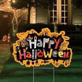 Halloween Yard Signs with Stakes