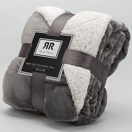 60 inch X 70 inch Sherpa Throw Blanket