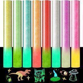Glitter Heat Transfer Vinyl Glow in the Dark