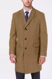 Nautica Men's Melton Wool-Blend Batten Overcoat