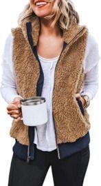 Women's Casual Sherpa Fleece Vest