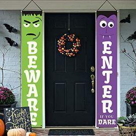 Dazonge Frankenstein & Vampire Porch Banners