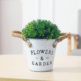 6 Mini Potted Artificial Plant