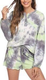 Women's Tie Dye Pajamas Set