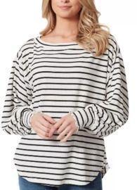Jessica Simpson Veera Striped Cotton Top