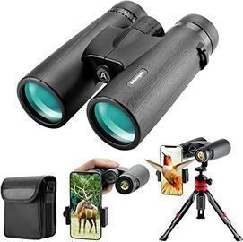 12x42 HD Binoculars w/ Phone Adapter, Tripod and Tripod Adapter