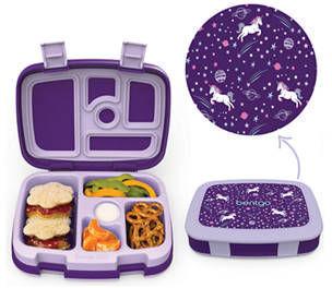 Bentgo Kids Prints Leak-Proof, 5-Compartment Bento-Style Kids Lunch Box, Unicorn